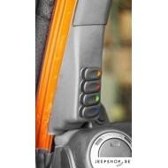 Console avec 4 interrupteurs pour Jeep Wrangler JK