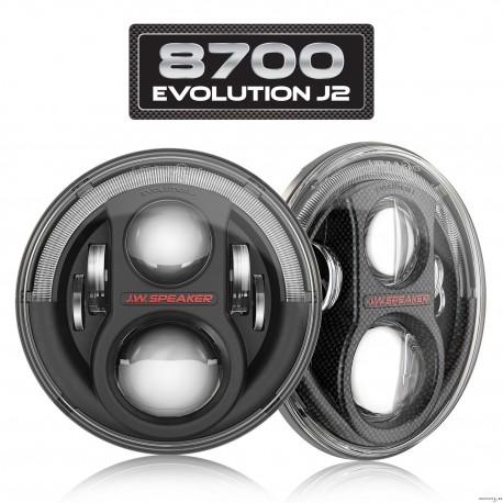 LED Headlights JW Speaker J2 (2pcs) ECE RHT for Jeep Wrangler