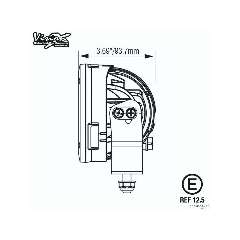 [QNCB_7524]  Vision X CG2 LED-lights 2pcs with wiring harness - JEEPSHOP.BE | Vision X Led Wiring Diagram |  | jeepshop.be