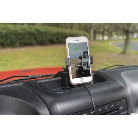 Dash multi-mount charging phone kit Jeep Wrangler JK