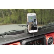 Dash multi-mount charging phone kit Jeep JL / JT
