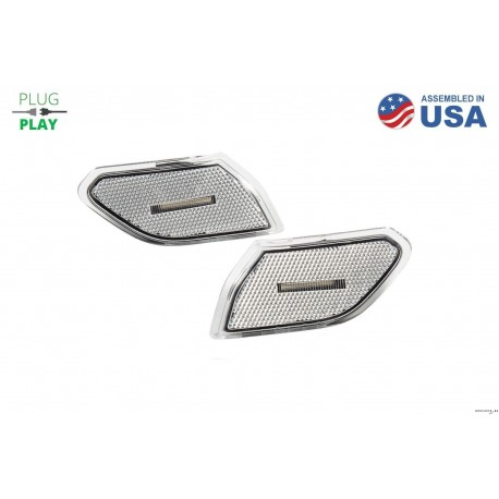 Clear LED sidemarkers for JL/JT