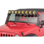 Barre LED KC HiLites Gravity Pro6 LED pour Jeep JK 2007-2018