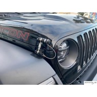 Attaches Capot DV8 avec serrures pour Jeep JL/JT (2pcs)