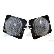 White Side Turn Signal Lens Kit JK